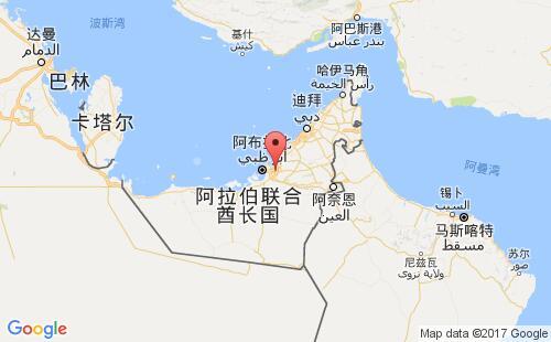阿联酋港口地图图片