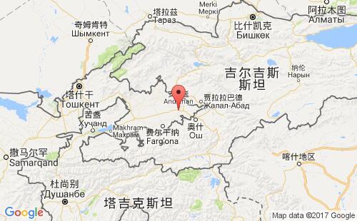乌兹别克斯坦港口地图图片