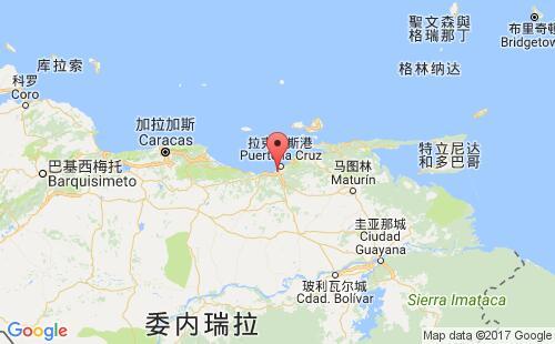 委内瑞拉港口地图图片
