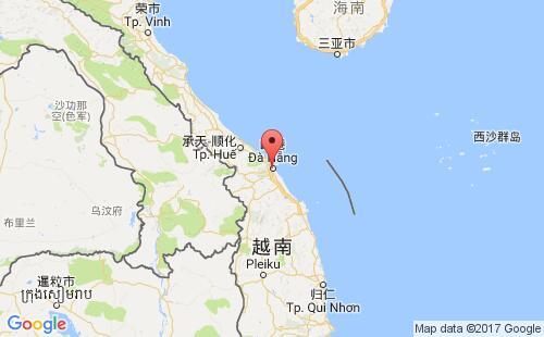 越南港口地图图片