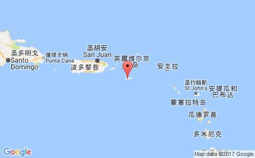 美属维京群岛港口地图图片