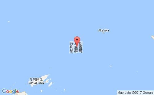 瓦利斯和富图纳群岛港口地图图片
