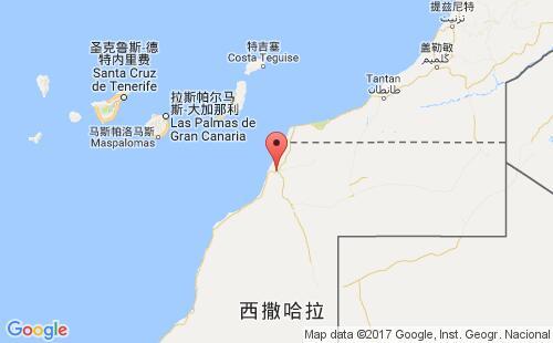 西撒哈拉港口地图图片