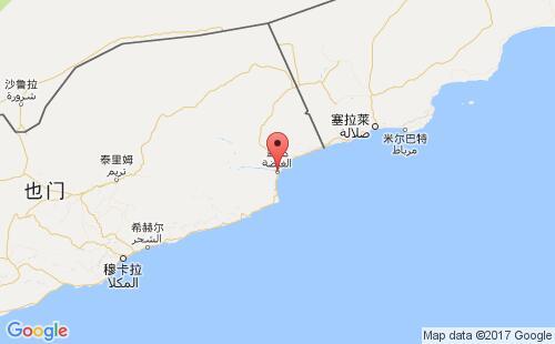 也门港口地图图片