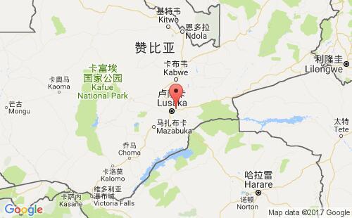 赞比亚港口地图图片