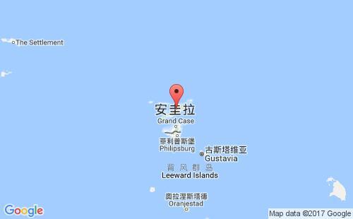 安圭拉港口安圭拉anguilla港口地图