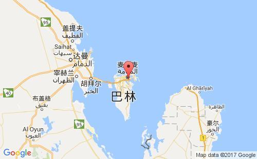 巴林港口米纳苏尔曼mina sulman港口地图