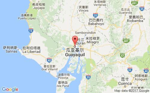 厄瓜多尔港口瓜亚基尔guayaquil港口地图