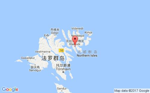 法罗群岛港口克拉克斯维克klaksvig港口地图