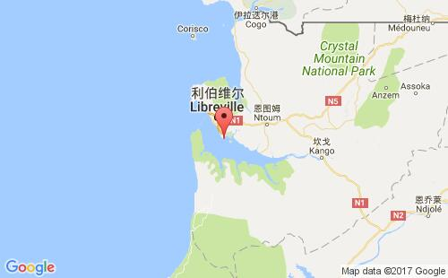 加蓬港口奥文多owendo港口地图