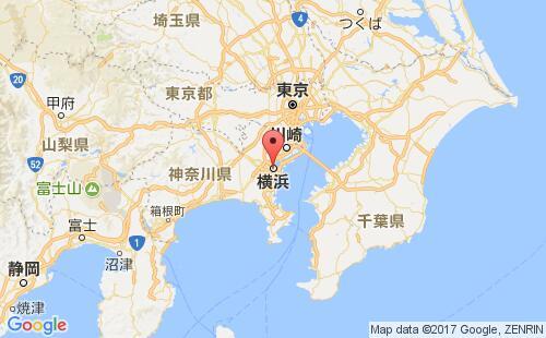日本港口横滨yokohama港口地图