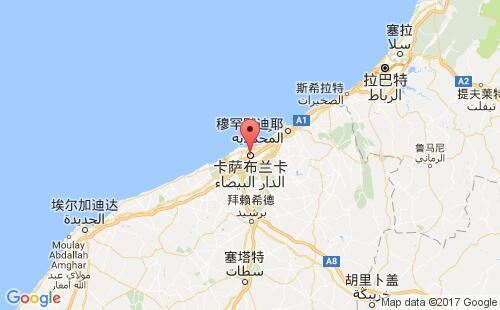摩洛哥港口卡萨布兰卡casablanca港口地图
