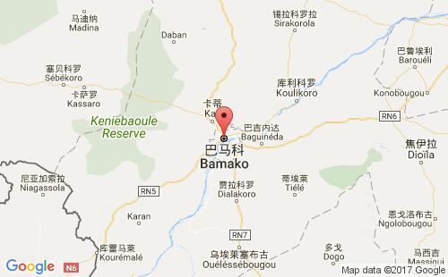 马里港口巴马科bamako港口地图