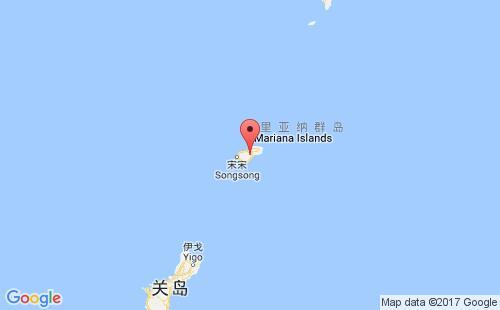 北马里亚纳群岛港口罗塔岛rota,mp港口地图
