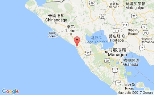尼加拉瓜港口圣蒂诺港puerto sandino港口地图