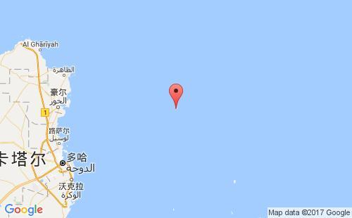 卡塔尔港口哈卢勒岛halul island港口地图