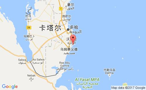 卡塔尔港口哈马德港hamad港口地图