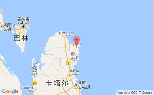 卡塔尔港口豪儿al khor港口地图