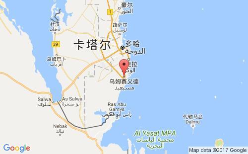 卡塔尔港口乌姆赛义德umm said港口地图