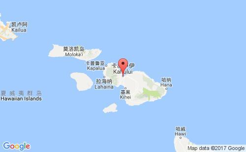 美属太平洋群岛港口卡胡卢伊kahului港口地图